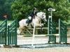 Sophie on Finn, water jump, Addington